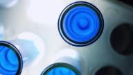 Blue liquid in test tubes video