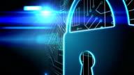 Blue lock on circuit board design video