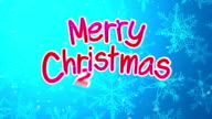 Blue Merry Christmas 2015 Greeting Art Paper Card Animation video