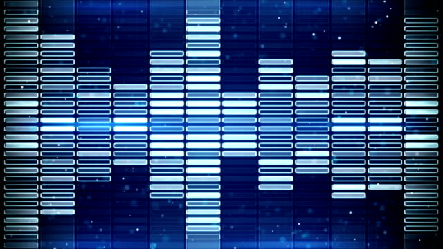 blue music equalizer seamless loop animation video