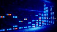 blue orange digital equalizer loopable background video