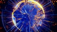blue orange globe spinning loop video