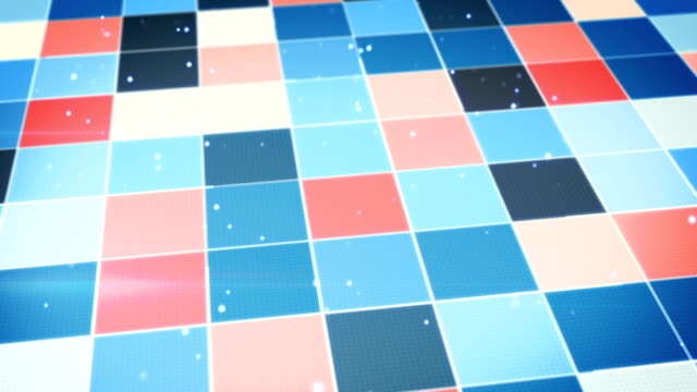 blue orange glowing squares abstract loopable background video
