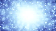 blue particles blizzard loopable animation video