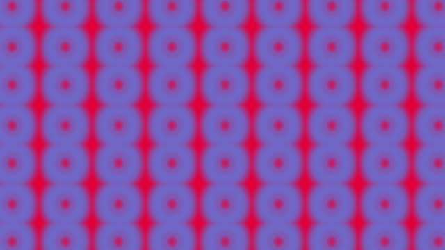 Blue polka dots on vivid red background video