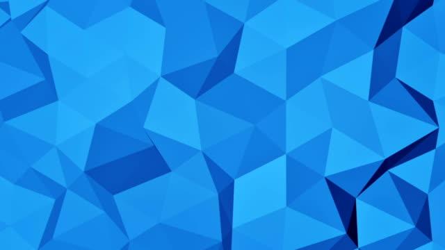 Blue polygonal geometric 3D surface seamless loop video