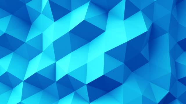 Blue polygonal geometric surface seamless loop video