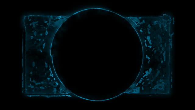 Blue Pulsing Abstract Grunge Rectangle and Circle with Matte video