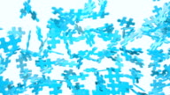 Blue Puzzle Background. video