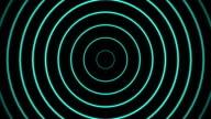 Blue Radio Waves on Black Background video