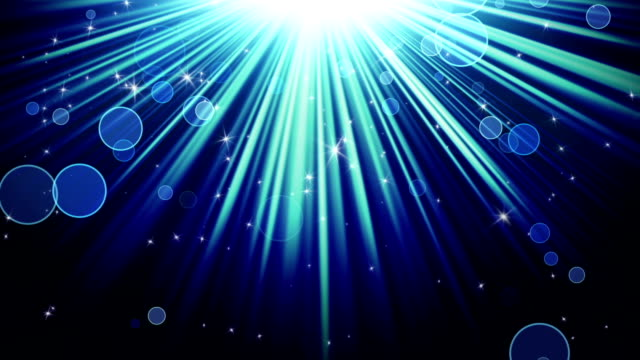 blue rays of light and stars loopable background video
