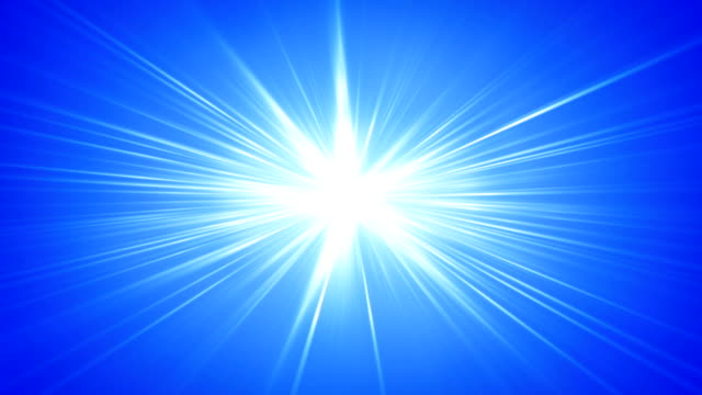 Blue rays shining abstract seamless loop background video