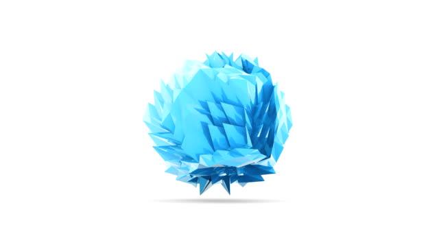 Blue reflective crumpled paper dance video