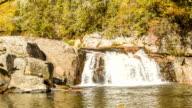 Blue Ridge Mountain Waterfall in Autumn video