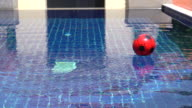 Blue ripped water in swimming pool video