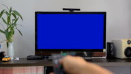 Blue screen tv video