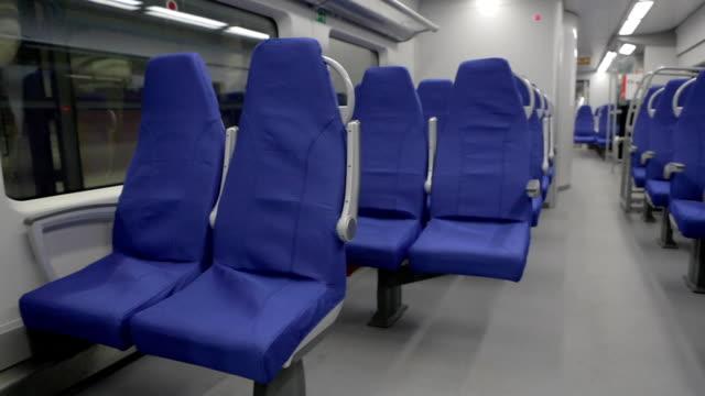 Blue Seats in a Suburban Train video