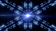 Blue Shiny Lights Background Animation video