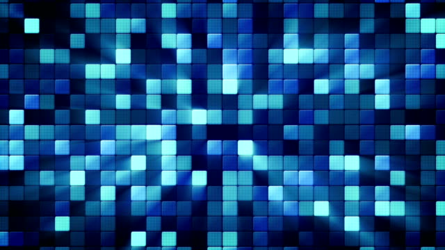 blue shiny mosaic tiles loopable background video
