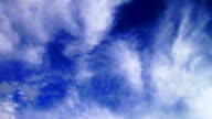 Blue Sky and cirrus clouds video