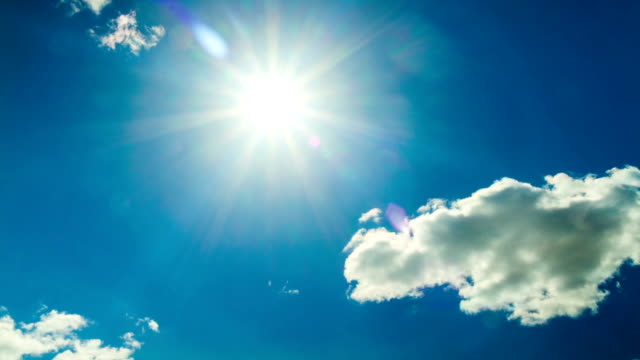 blue sky and sun, time-lapse video
