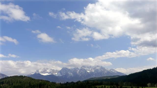 Blue sky in alps video