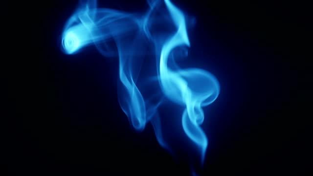 Blue smoke flows seamless loop video