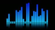 Blue sound mixer equaliser video