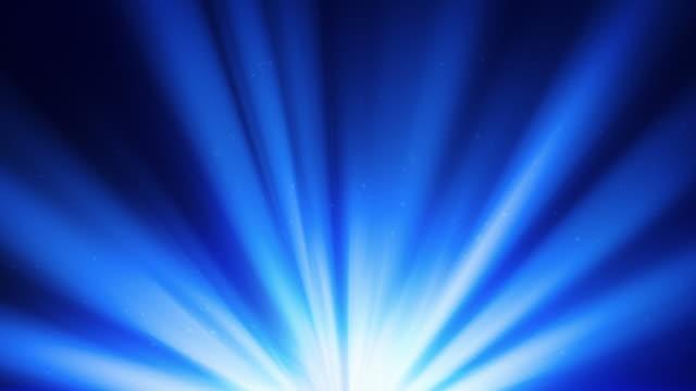 Blue spotlights rotating video