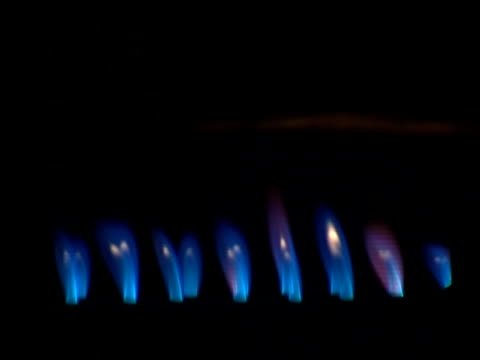 Blue spurts of flame (Video - 16:9) video