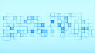 Blue squares 3D render loopable animation video