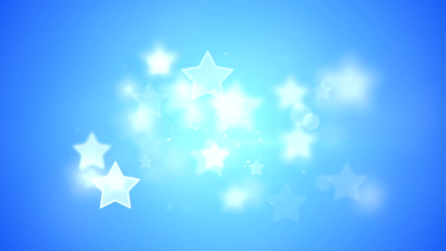blue stars bokeh shallow DOF loopable background video