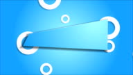 Blue sticker and white rings video animation video