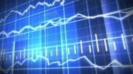 Blue Stock Market Graph and Bar Chart video