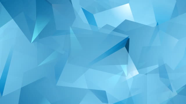 Blue tech geometric polygonal video animation video