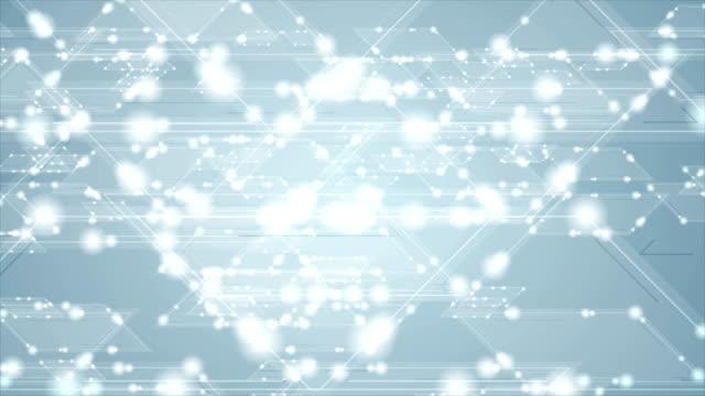 Blue tech shiny iridescent sparkling video animation video