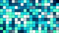 blue tiles glass mosaic seamless loop background video