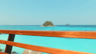 Blue Turquoise Sea on Tropical Islands video