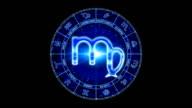 blue virgo zodiacal symbol video