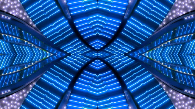 Blue X Neon Frame - Las Vegas, Nevada video
