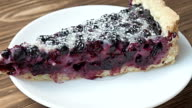 Blueberry cake sprinkled with fresh blueberries video