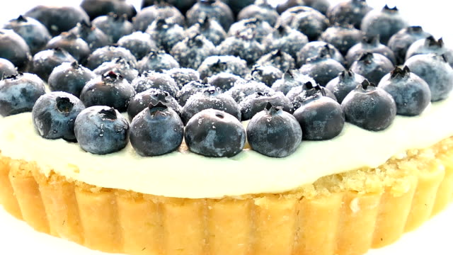 Blueberry tart video