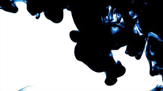 HD Blue-black ink dissolving in water video