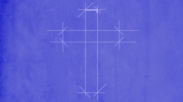Blueprint drawing of a cross video