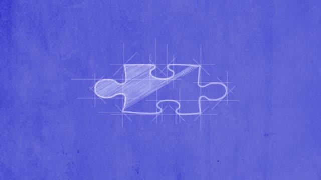 Blueprint jigsaw puzzle video