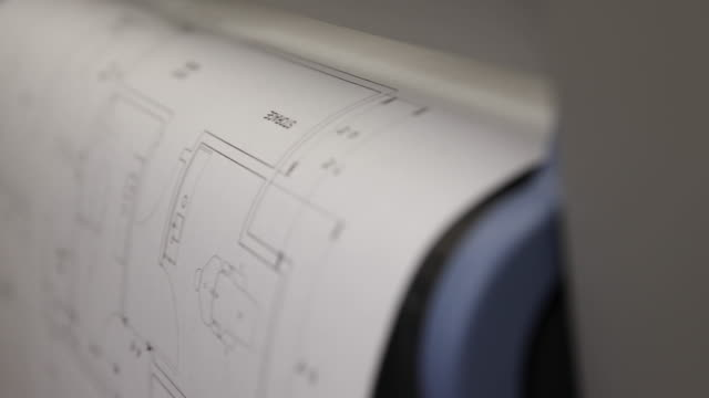 Blueprints Printing Out of Printer on Angle video