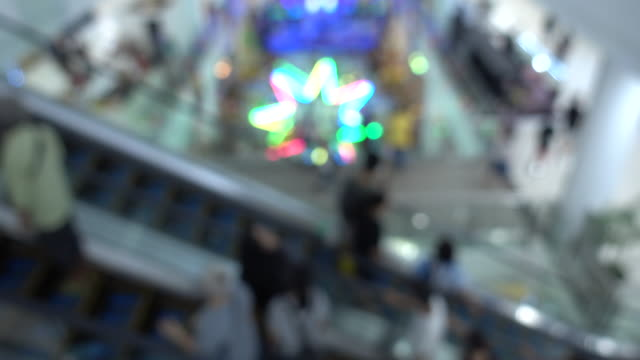 Blur people in shopping mall video