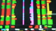 Blur Ticker Board in Exchange Stock Market video