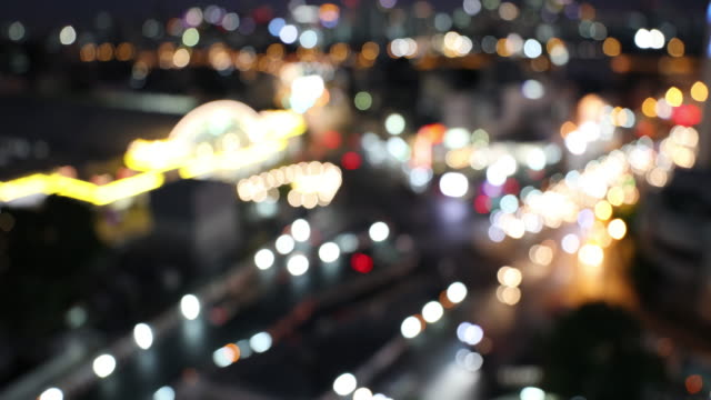 Blurred Arstract background Aerial view of Traffic at Bangkok Central Station video