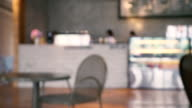 Blurred background, Coffee shop blur background with bokeh video